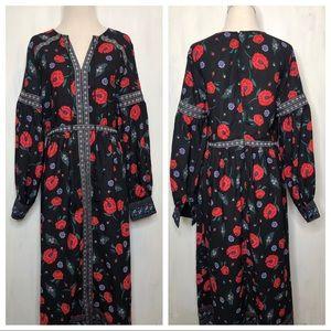 Endless Rose Zinnia Peasant Midi/Maxi Dress S
